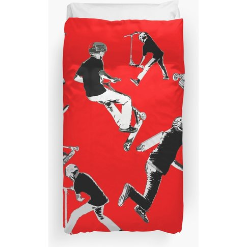 Airtime!- Stunt Scooter Fun Duvet Cover