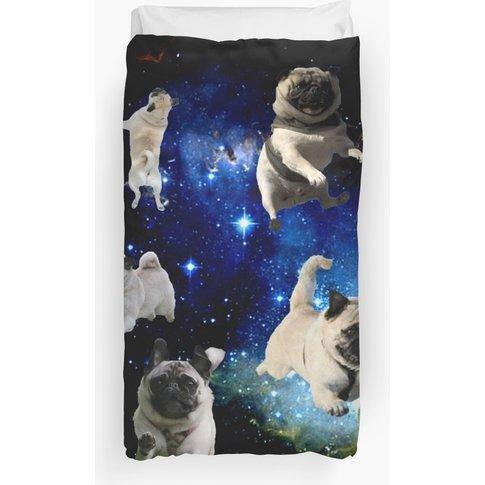 Space Pugs Duvet Cover
