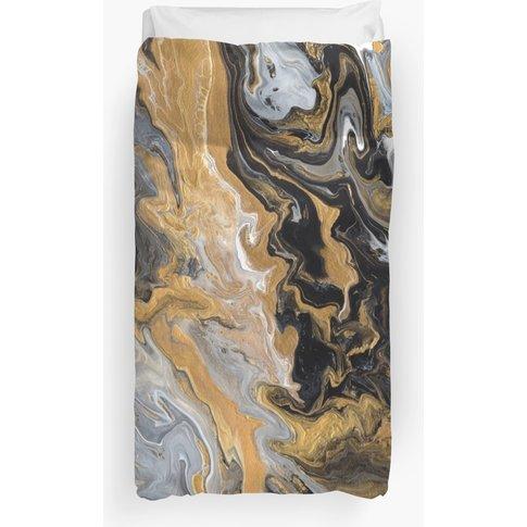 Art Deco Black And Gold Duvet Cover