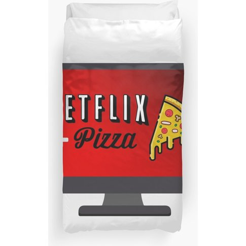 Netflix + Pizza  Duvet Cover