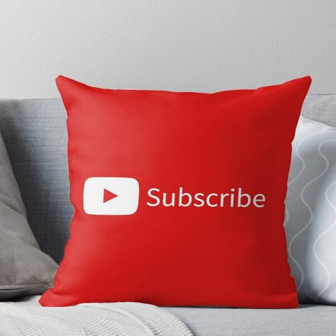 Like, Comment, Subscribe Throw Pillow