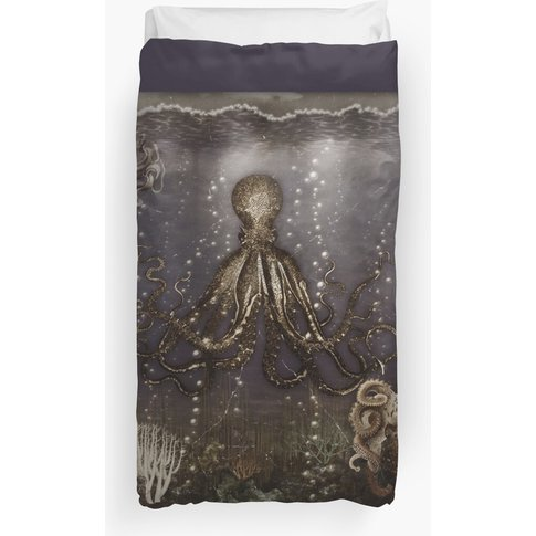 Octopus' Lair - Old Photo Duvet Cover