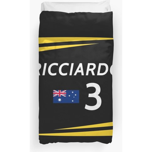 F1 2019 - #3 Ricciardo [Black Version] Duvet Cover