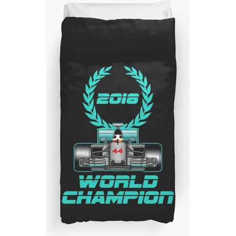 Lewis Hamilton 2018 World Champion Duvet Cover