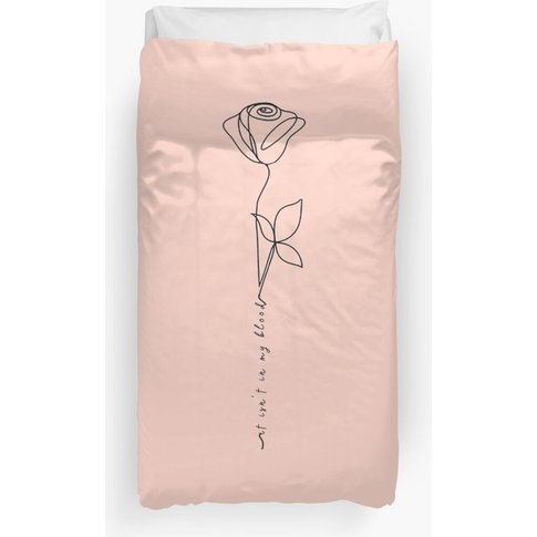 In My Blood Rose Duvet Cover