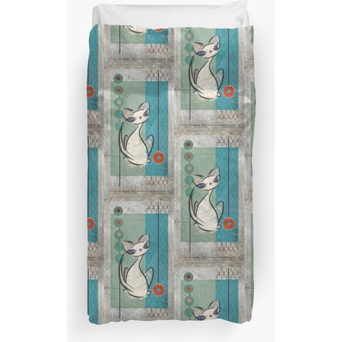 Mid Century Modern: Lil Miss Purrfect Duvet Cover