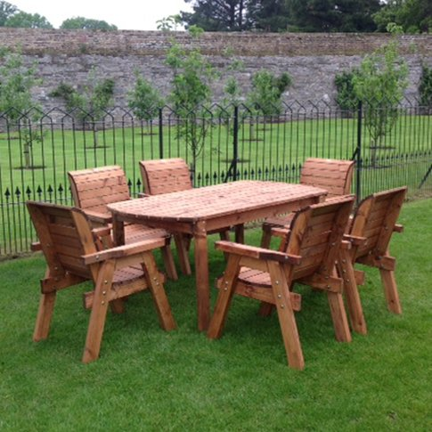 Six Seater Outdoor Table Set - With Seats - HB15