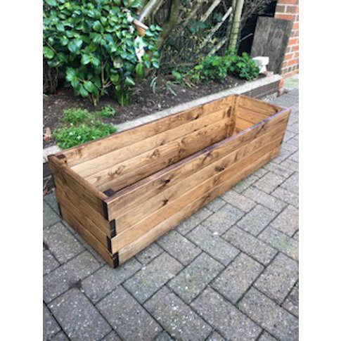 Large Rectangular Wooden Planter