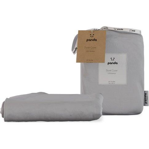 Panda Quiet Grey Bamboo Duvet Cover - Double
