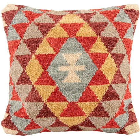 Khiva Handloom Kilim Cushion Cover - 45 X 45cm