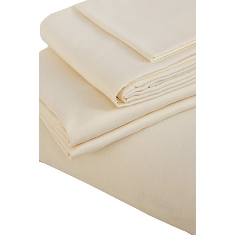 The Flax Sack Organic Linen Duvet Cover Set - Oyster...