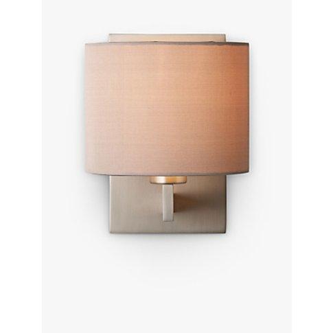 Astro Olan Wall Light With Silk Shade, Nickel/Oyster