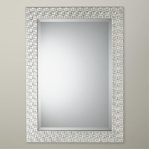 John Lewis & Partners Mosaic Mirror, Silver/White