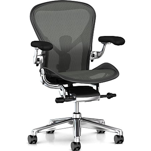 Herman Miller Aeron Office Chair, Graphite/Polished ...