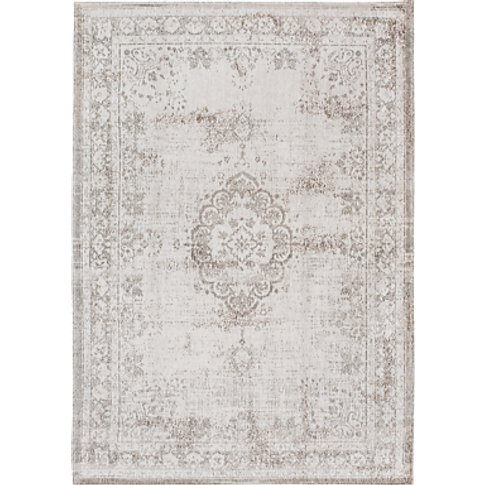 Louis De Poortere Medallion Rug, Grey