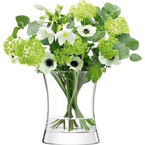 Lsa International Moya Vase, Clear, H22cm