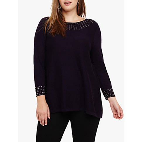 Studio 8 Zelda Stud Cotton Knit Jumper, Deadly Night...