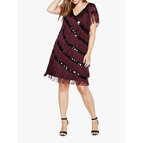 Studio 8 Lottie Fringe Dress, Deadly Nightshade