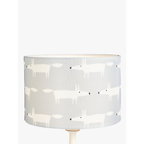 Scion Mr Fox Lampshade, Grey/White