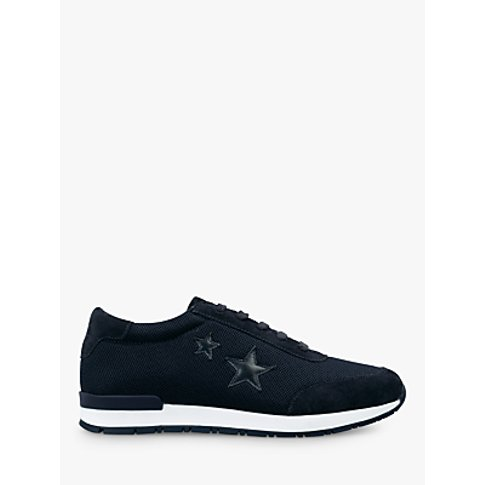 Hush Bedale Low Top Trainers, Navy Suede