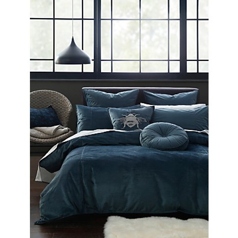 Mm Linen Simone Velvet Duvet Cover Set, Navy