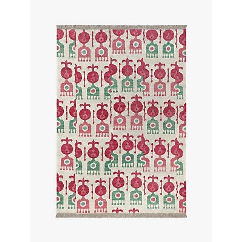 John Lewis & Partners Icon Ikat Rug, Green/Pink