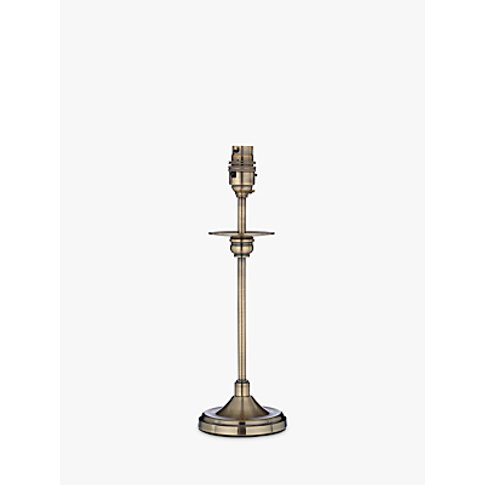 John Lewis & Partners Aston Lamp Base, Antique Brass, H31cm