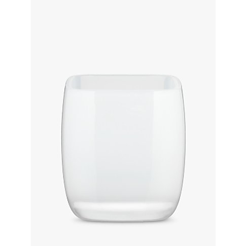 House By John Lewis Cubi Bathroom Tumbler, White