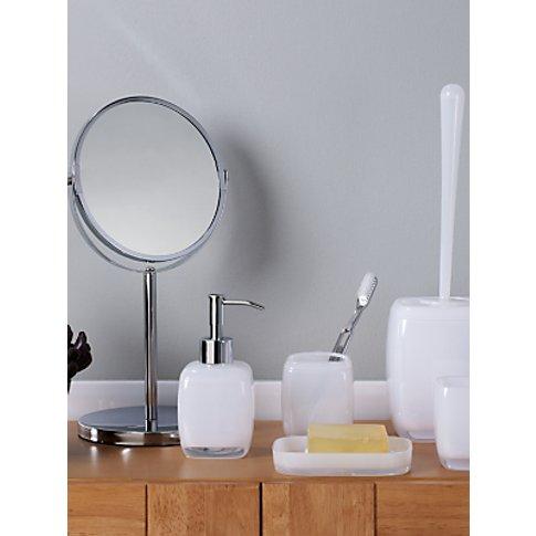 House by John Lewis Cubi Toothbrush Holder, White