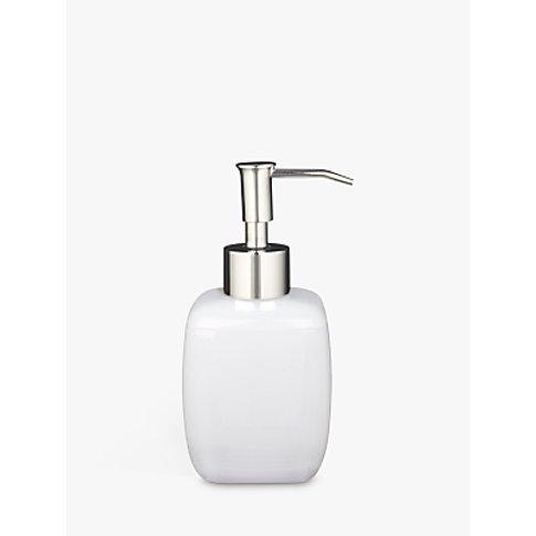 House By John Lewis Cubi Soap Dispenser, White