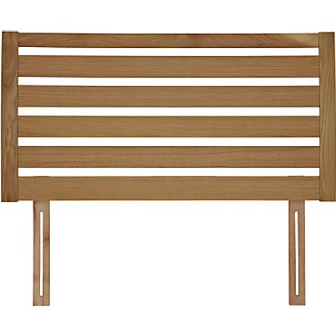 John Lewis & Partners Fawley Wooden Headboard, Oak, ...