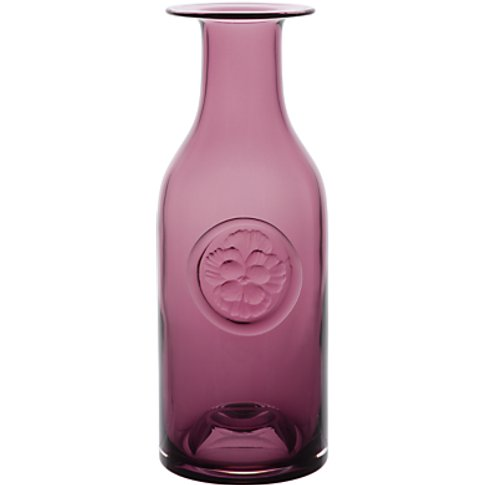 Dartington Crystal Pansy Flower Bottle Vase, Heather...