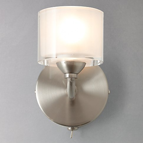 John Lewis & Partners Paige Single Wall Light, Satin...