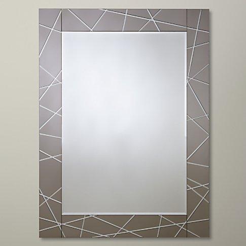 John Lewis & Partners Engraved Mirror, 102 X 76cm, S...