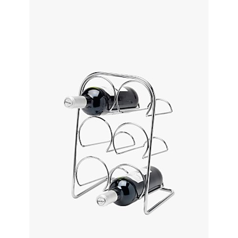 Hahn Pisa Wine Racks, 6 Bottle, Chrome