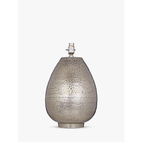 John Lewis & Partners Valda Pot Lamp Base, Silver, H...