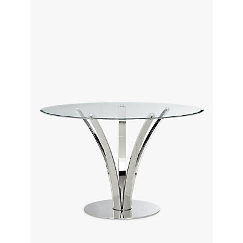 John Lewis & Partners Moritz 4 Seater Glass Top Dini...