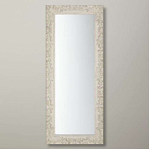 John Lewis & Partners Loire Mirror, 58cm X 138cm, Cream