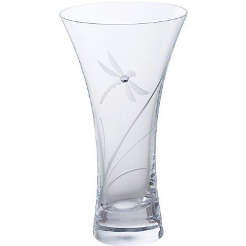 Dartington Crystal Dragonfly Vase, Small