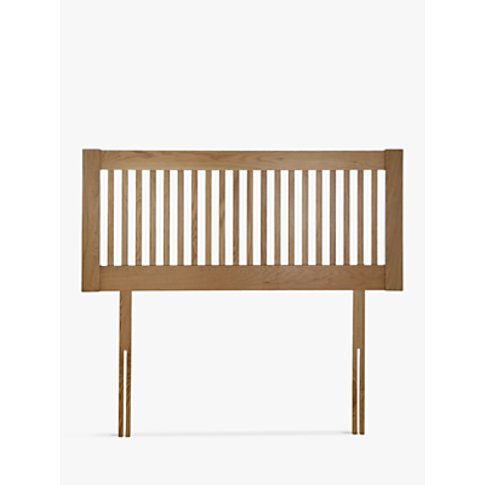 John Lewis & Partners Cannes Wooden Headboard, Oak, ...