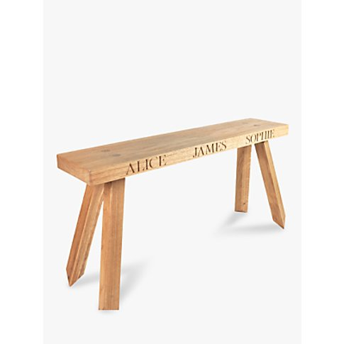 The Oak And Rope Company 2-Seat Personalised Bench, ...
