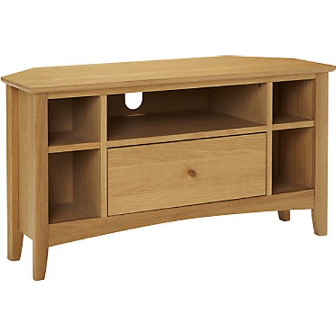 John Lewis & Partners Alba Corner Tv Stand For Tvs U...