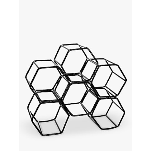 John Lewis & Partners Honeycomb Metal Wine Rack, 6 B...