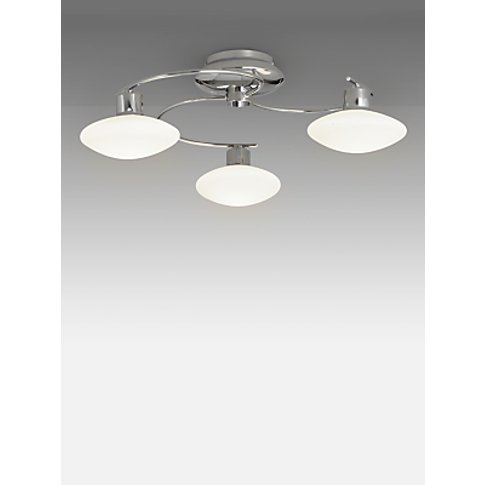 John Lewis & Partners Tameo LED Semi Flush 3 Arm Cei...