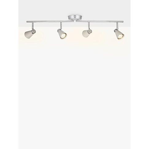 John Lewis & Partners Logan Gu10 Led 4 Spotlight Ceiling Bar