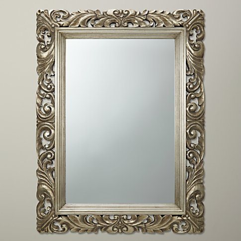 John Lewis & Partners Ornate Leaf Wall Mirror, Champ...