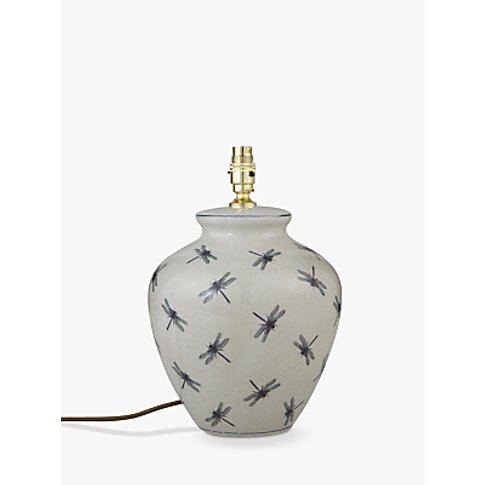 India Jane Dragonfly Ceramic Lamp Base, Blue, H31cm
