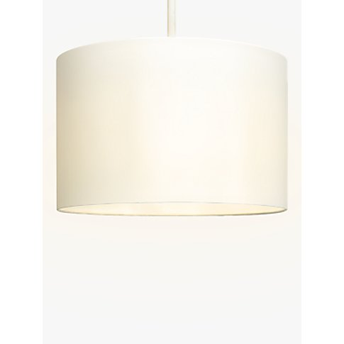 House by John Lewis Mimi Cylinder Lampshade, Cream, ...