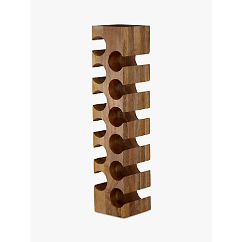 John Lewis & Partners Wine Rack, 12 Bottle, Mango Wood