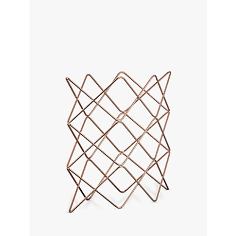 John Lewis & Partners Scandi Copper Wine Rack, 9 Bottle